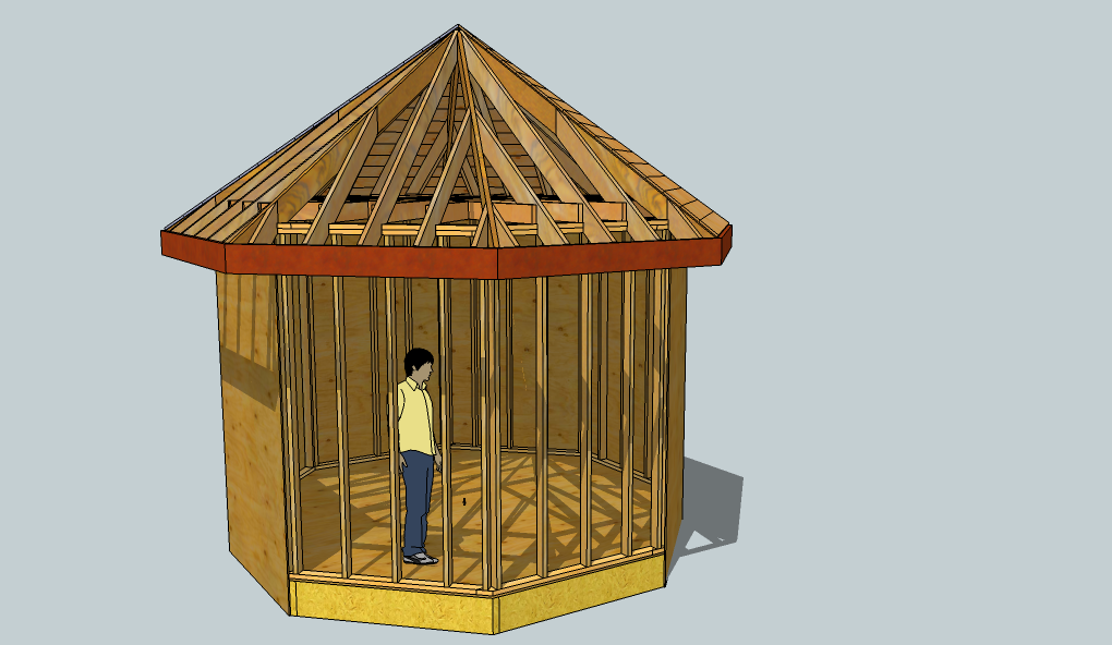 Exploring Octagonal Roof Framing With Sketchup Fine