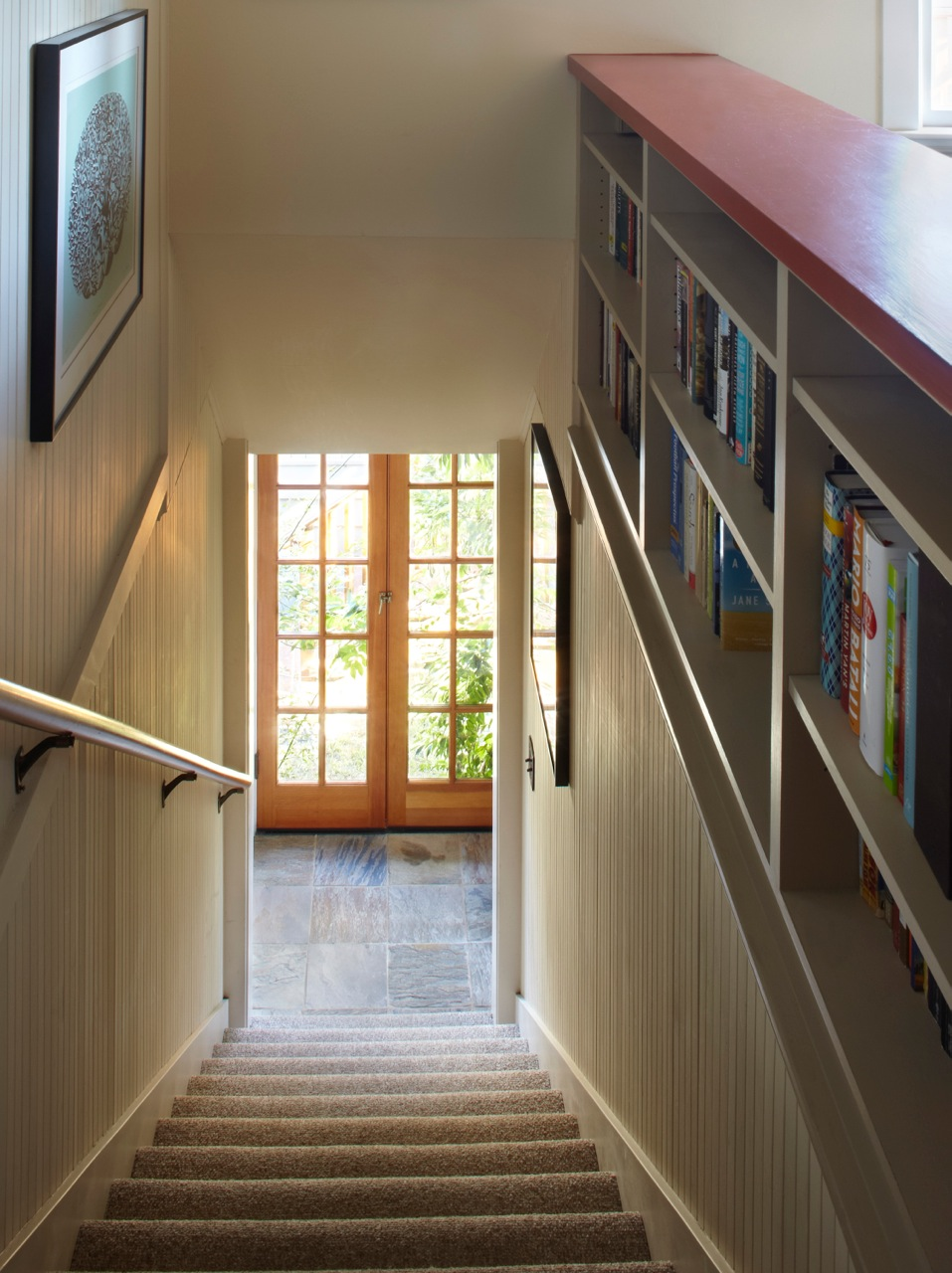 Stair Side Bookcases Fine Homebuilding