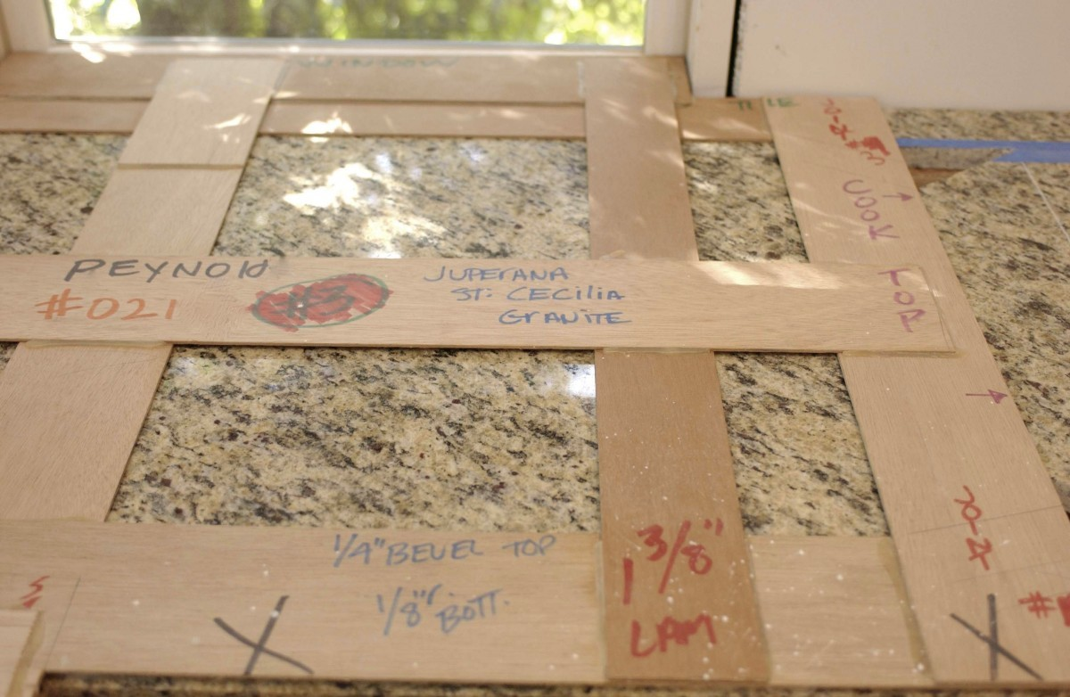 Creating countertop templates fine homebuilding for Template for granite countertops