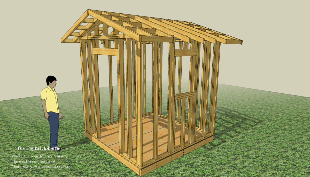 Begin With the End in Mind: Shed Layout and Floor Framing - Fine ...