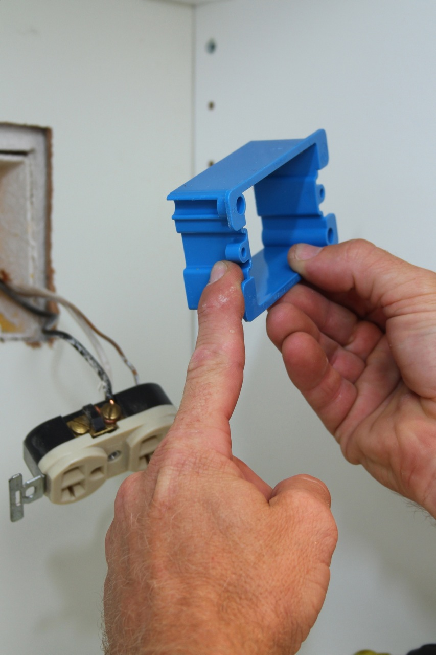 Styrofoam Insulation Spacers : Getting outlet box edges flush fine homebuilding