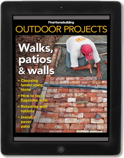 walks, patios, and walls iPad mini issue