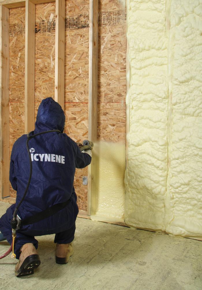 Icynene Boosts R Value Of Spray Foam Insulation Fine