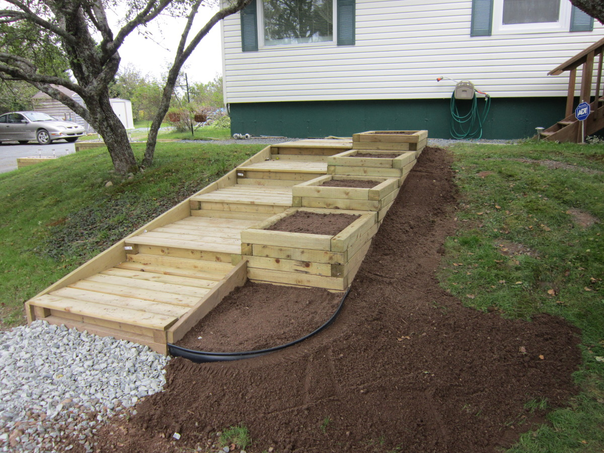 Making A Raised Flower Bed With Sleepers
