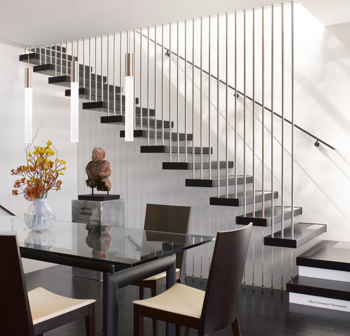 The Dining Room With Floating Stairs