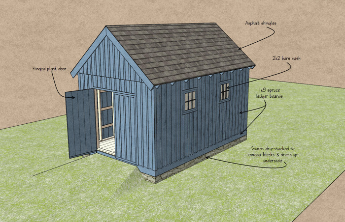 You can build this shed for about $2,000 - Fine Homebuilding