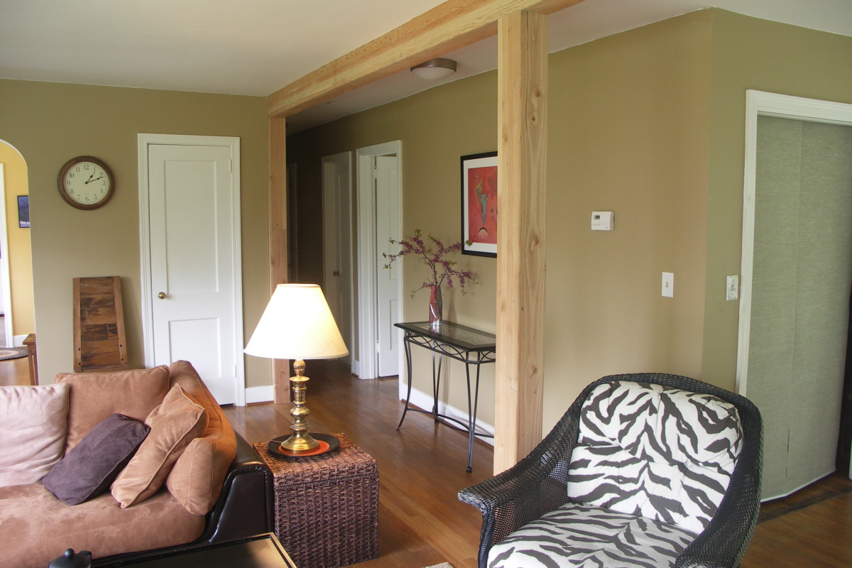 Replacing A Load Bearing Wall With A Glulam Column And