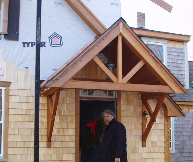 Red Cedar Entry Roof Fine Homebuilding
