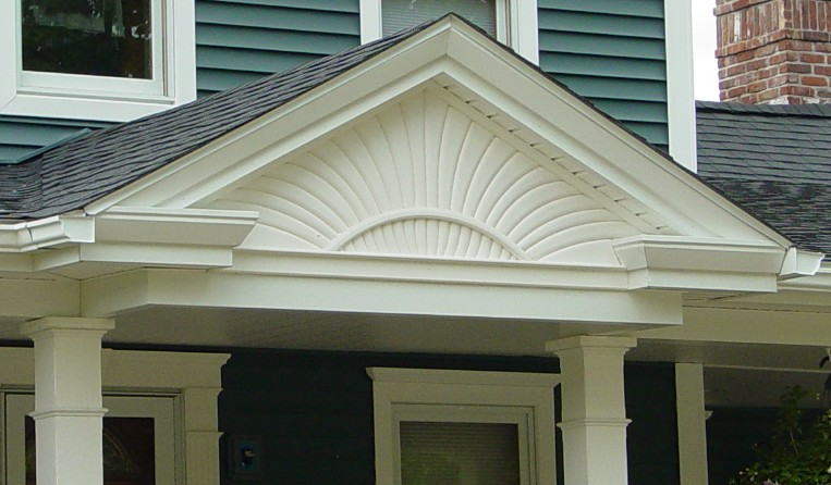 Decorative gable fine homebuilding for Exterior decorative trim for homes