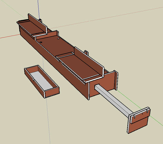 miter-saw stand SketchUp model
