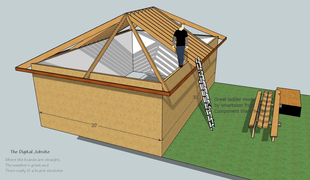 Model Amp Measure Hip Roof Framing De Mystified By Modeling