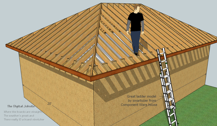 Model Amp Measure Hip Roof Framing De Mystified By Modeling