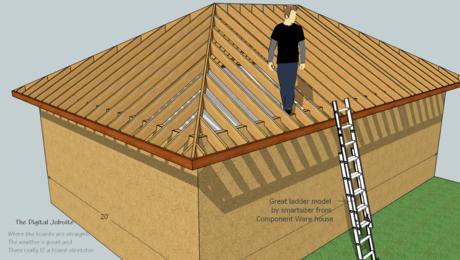 Model Measure Hip Roof Framing Demystified By Modeling In Sketchup Fine Homebuilding