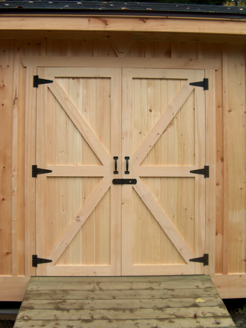 pine board and batten shed