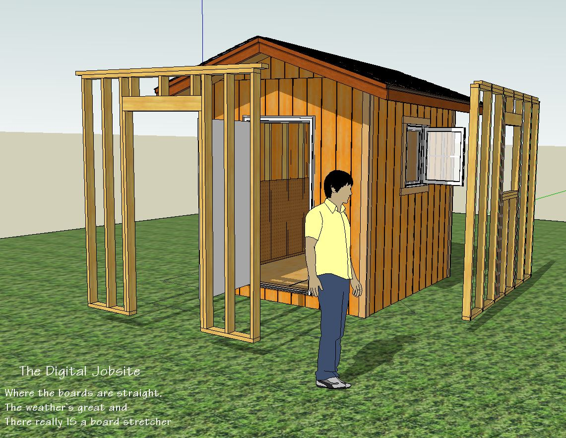 Wall Layout and Framing Basics for Simple Shed Project - Fine ...