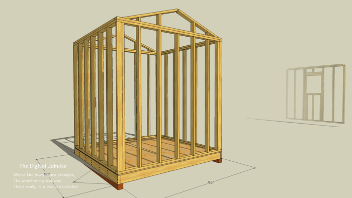 Simple Instructions For How To Frame A Shed Fine Homebuilding