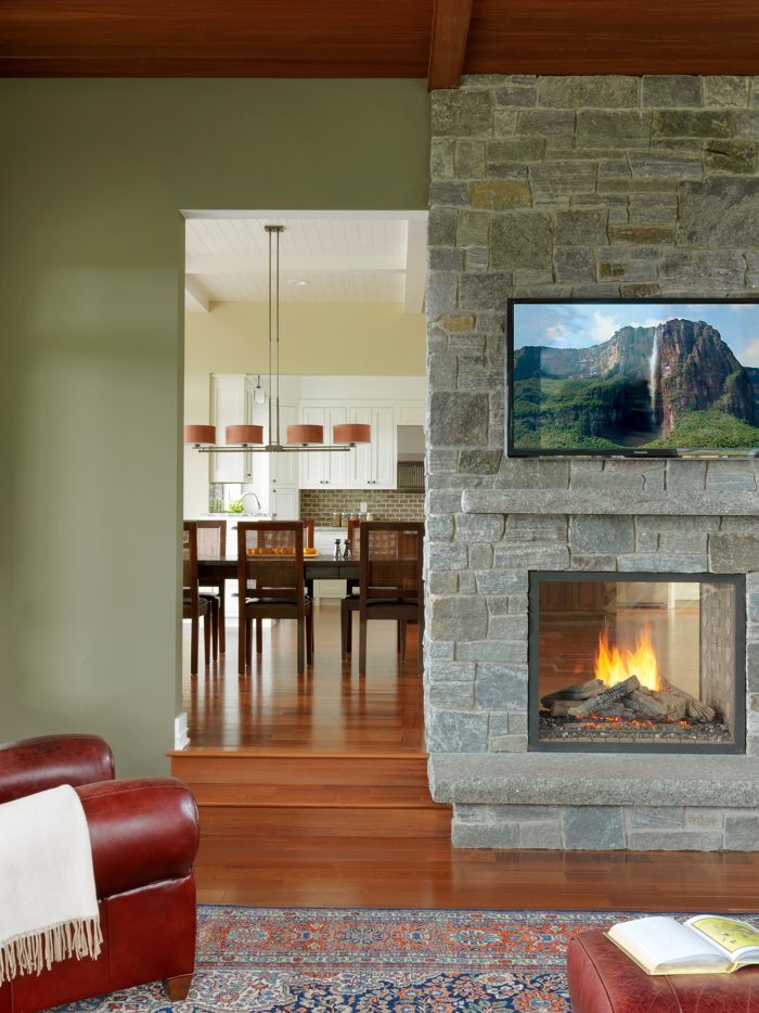 Double Sided Fireplace Fine Homebuilding