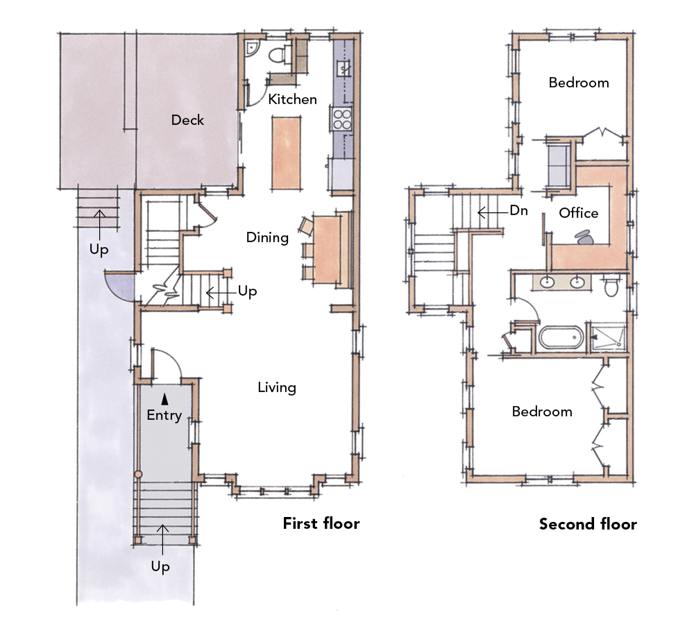 5 small home plans to admire fine homebuilding for Small space floor plans