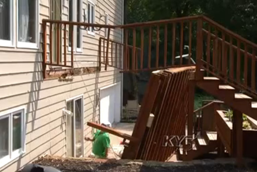 poor construction leads to another collapsed deck