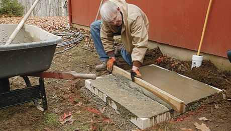 Placing And Finishing A Concrete Slab Fine Homebuilding