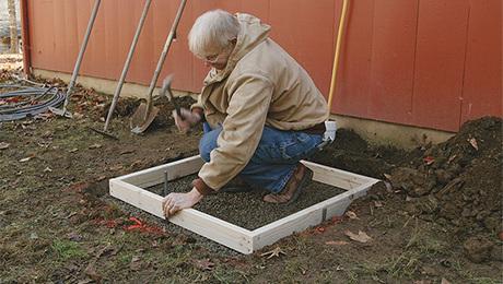 Forming A Small Concrete Slab Fine Homebuilding
