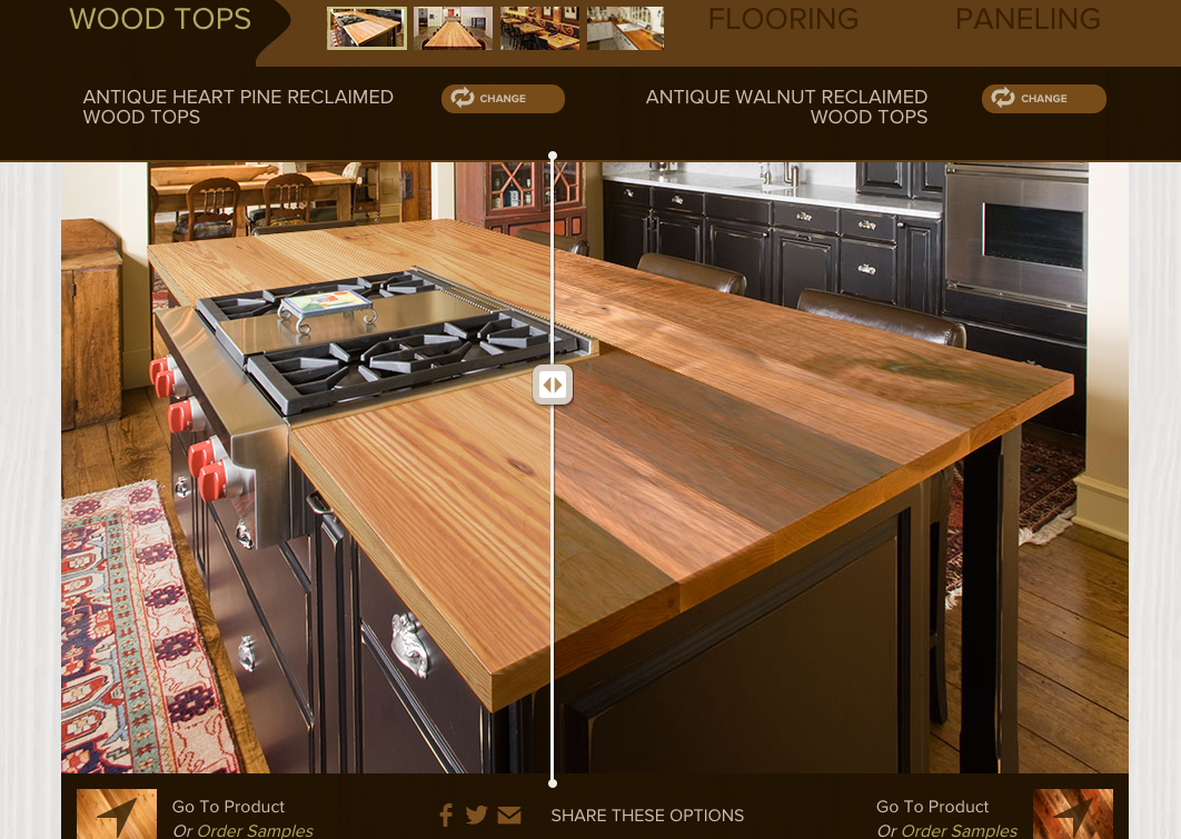 Beau Elmwood Reclaimed Timber Has This Handy Virtual Comparison Feature In Their  Online Gallery. Pick Two Styles Of Wood And Look At Them Side By Side In  The ...