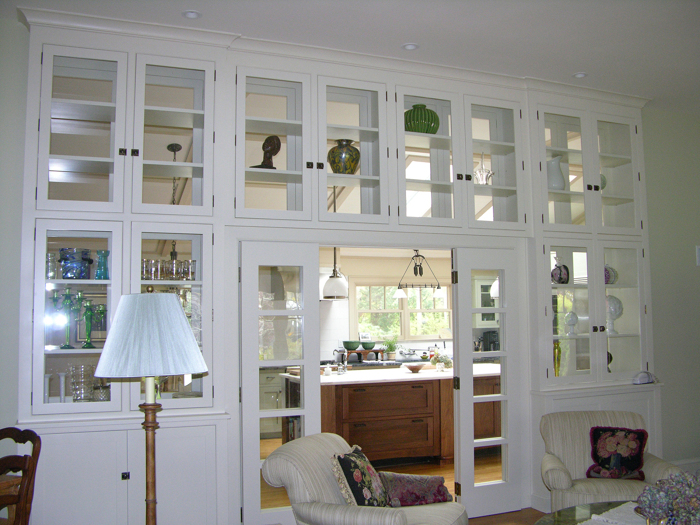 Elegant Article Image. View Of Cabinets From The Formal Living Room