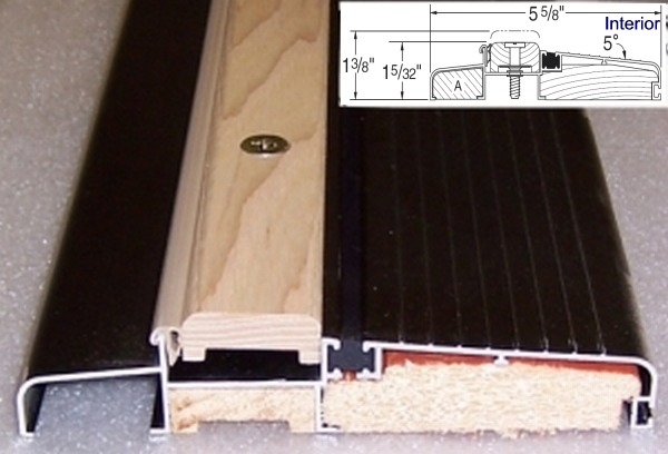 Inswing or outswing doors fine homebuilding for How to install a threshold for an exterior door