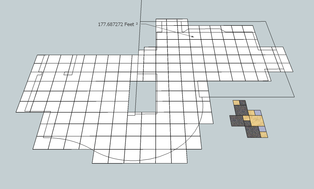 digitile use a sketchup model to layout estimate and build a takeoff list for a tiling job - Tile Floor Layout