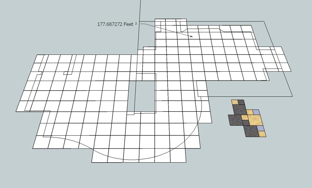 digitile use a sketchup model to layout estimate and build a rh finehomebuilding com Floor Tile Layout Patterns tile shower floor diagram