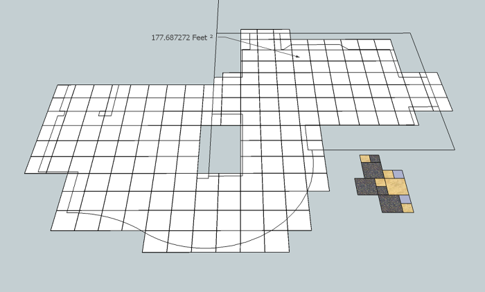 Digitile use a sketchup model to layout estimate and for Tile layout app