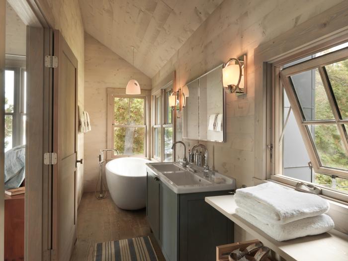 Lakeside Cabin Master Bathroom Fine Homebuilding