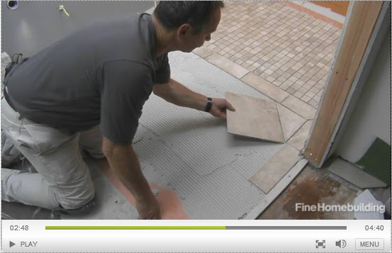 Floor-tile video series