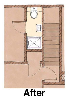 Fitting A Shower In A Small Bath Floorplan Fine Homebuilding