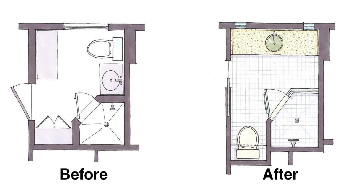 Fitting a shower in a small-bath floorplan - Fine Homebuilding