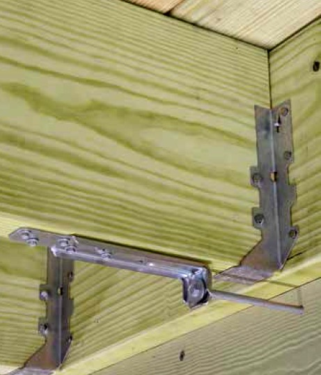 Wood Connection Hardware : Simpson strongtie dtt z deck lateral load connector fine
