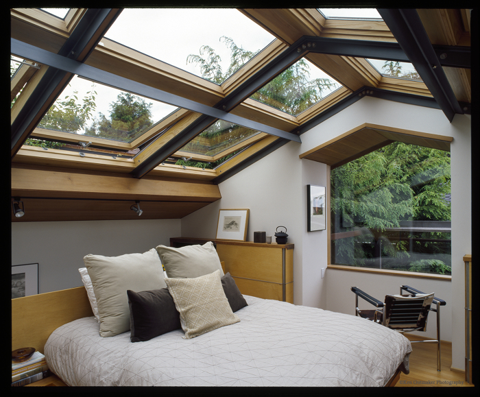 This Bedroom Feels Much Larger Than Itu0027s Actual Footprint Due To The Vast  Number Of Skylights That Cover The Entire Ceiling. Careful Design And  Construction ...