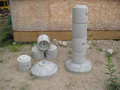 precast concrete piers footings precast footings ez homebuilding 4392