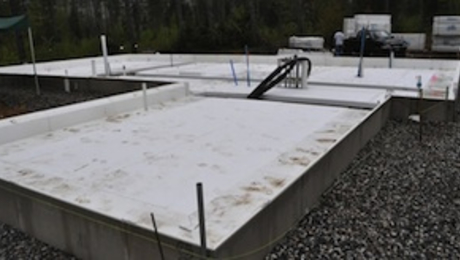 Prefabricated foam forms for slab foundations fine for Insulated concrete foam
