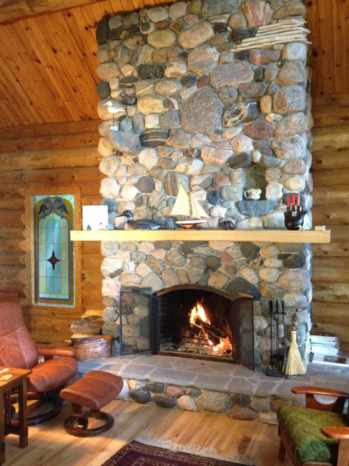 Michigan Fieldstone Fireplace Fine Homebuilding