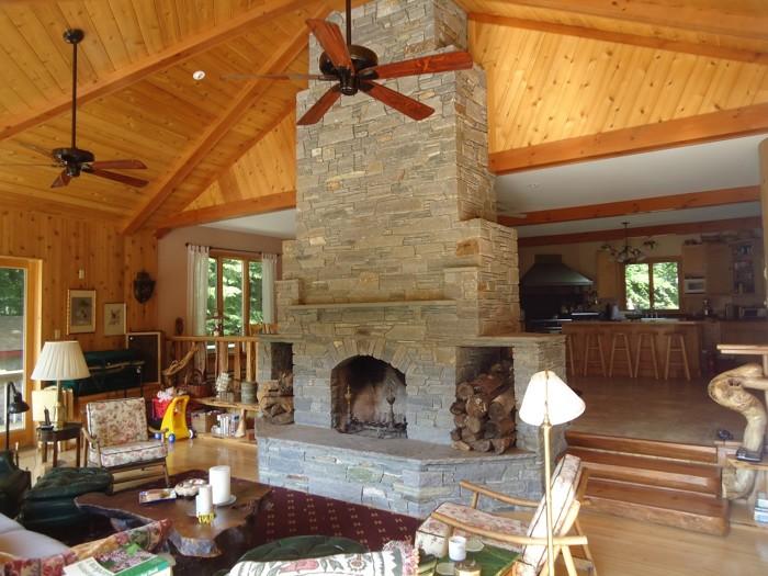 Native New England Stone Fireplace Fine Homebuilding