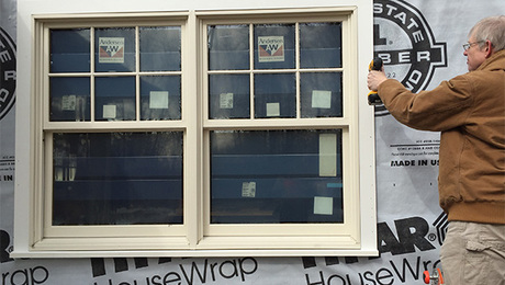 How to trim an exterior window fine homebuilding for What room has no doors or windows
