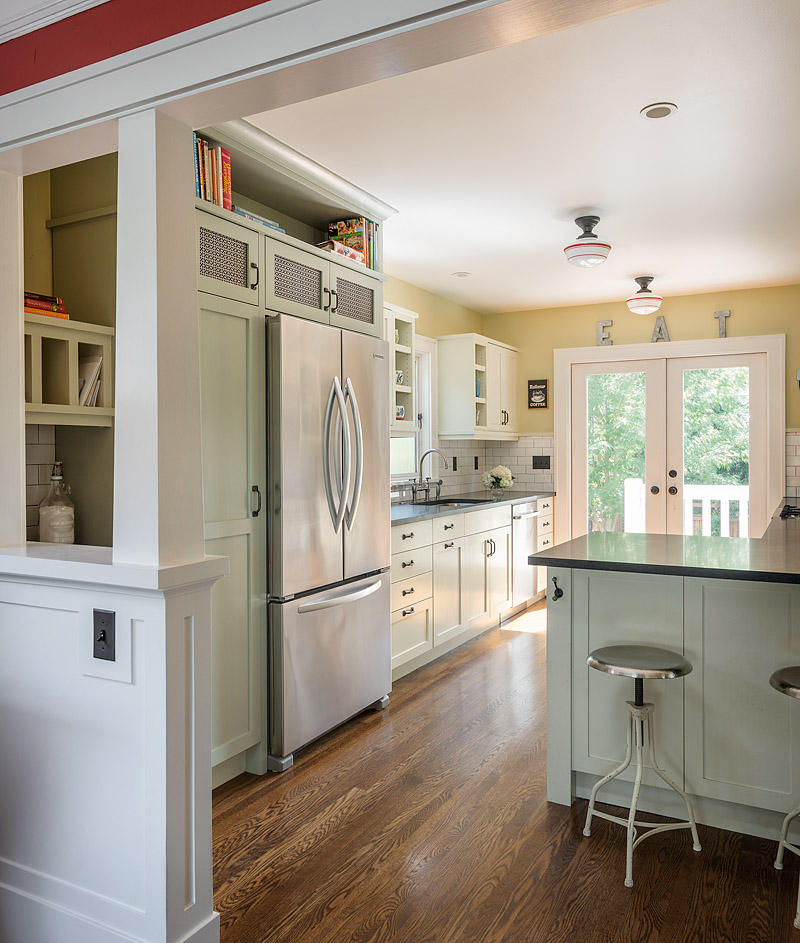 Kitchen Peninsula With Column: Maple Leaf Kitchen Remodel