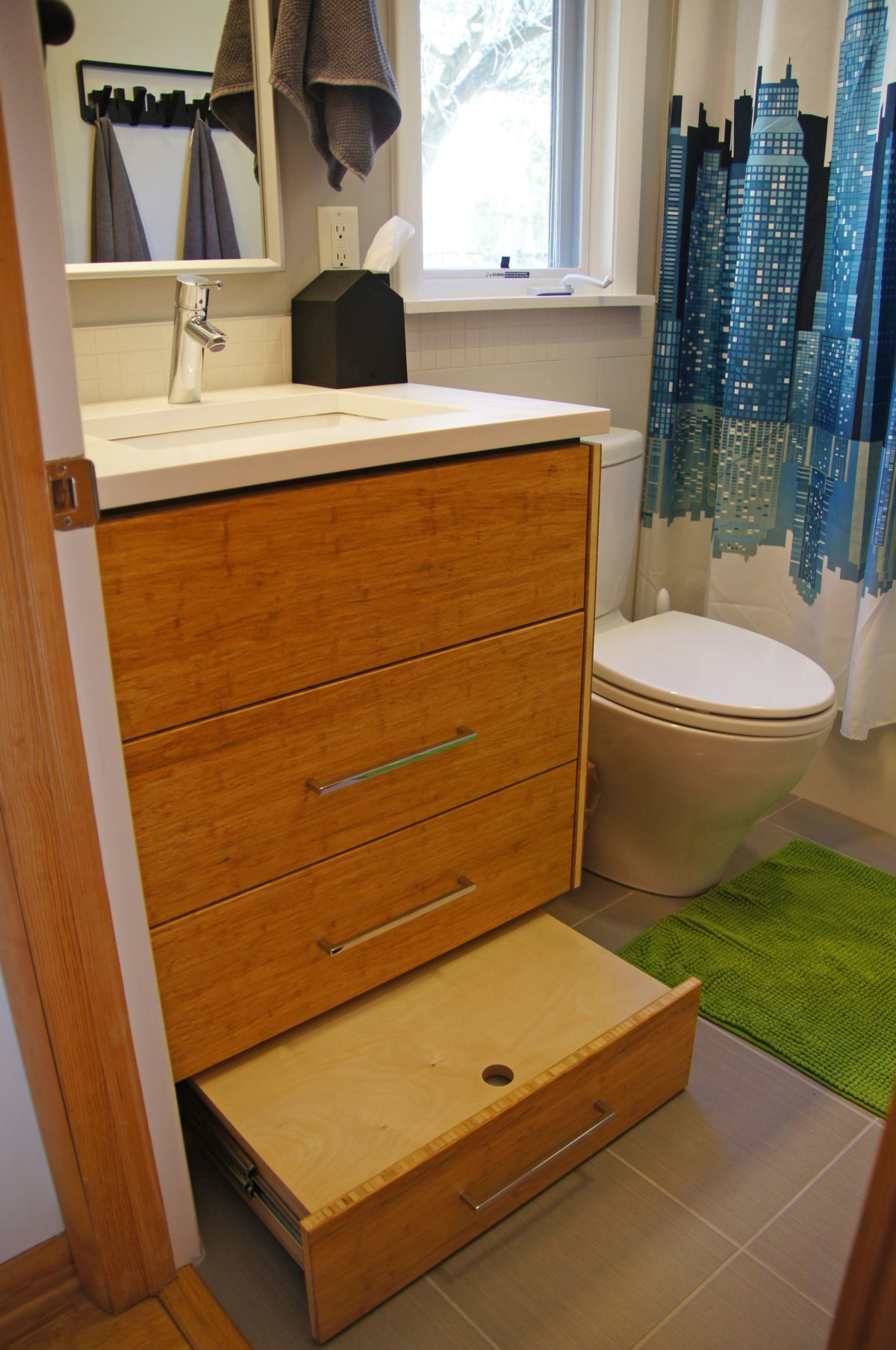Typical 5x8 Bathroom Becomes Fun For Boys Fine Homebuilding