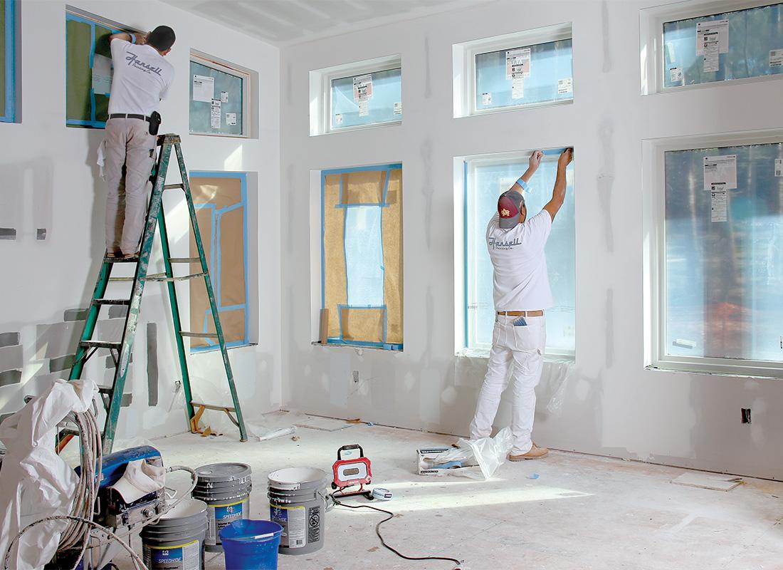 masking windows and doors
