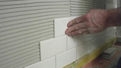 installing subway tiles