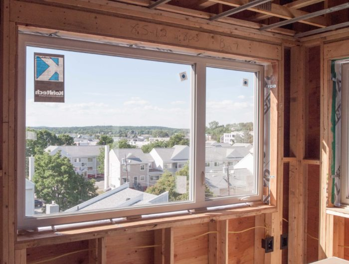 Fixed windows are cheaper than windows that open and close, so designers used them where they could. Fixed glass is often combined with a smaller, operable unit, as it is here. The triple-glazed PVC casements are made by Kohltech, a Canadian manufacturer.