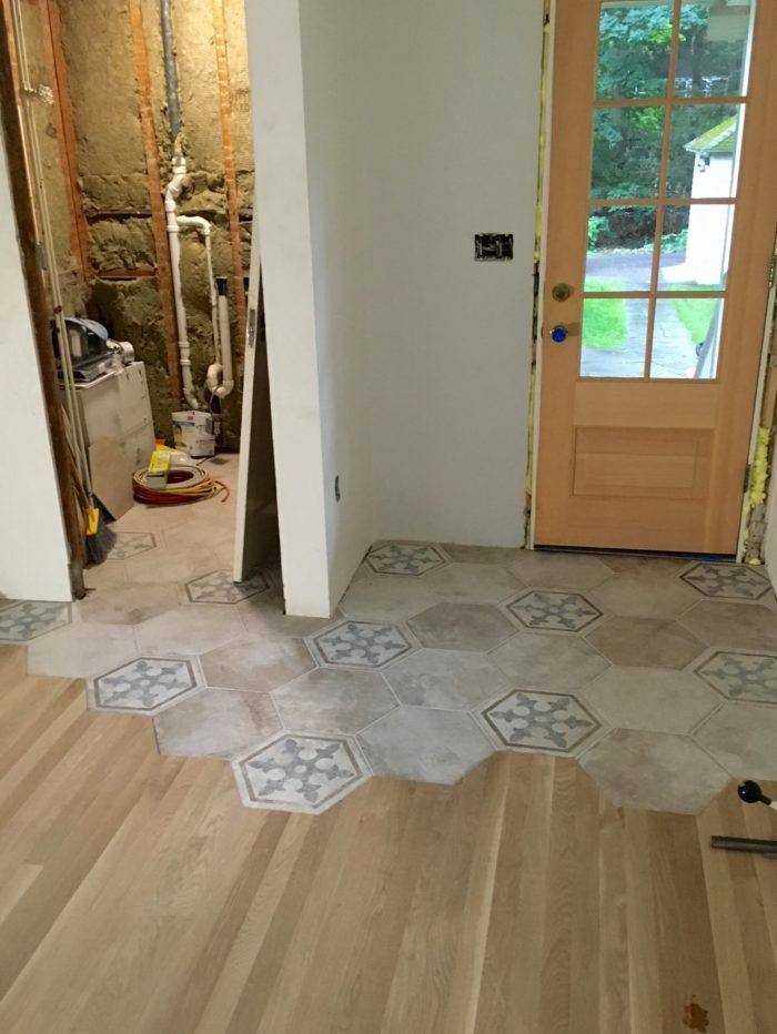 how to cut ceramic tile already installed on floor