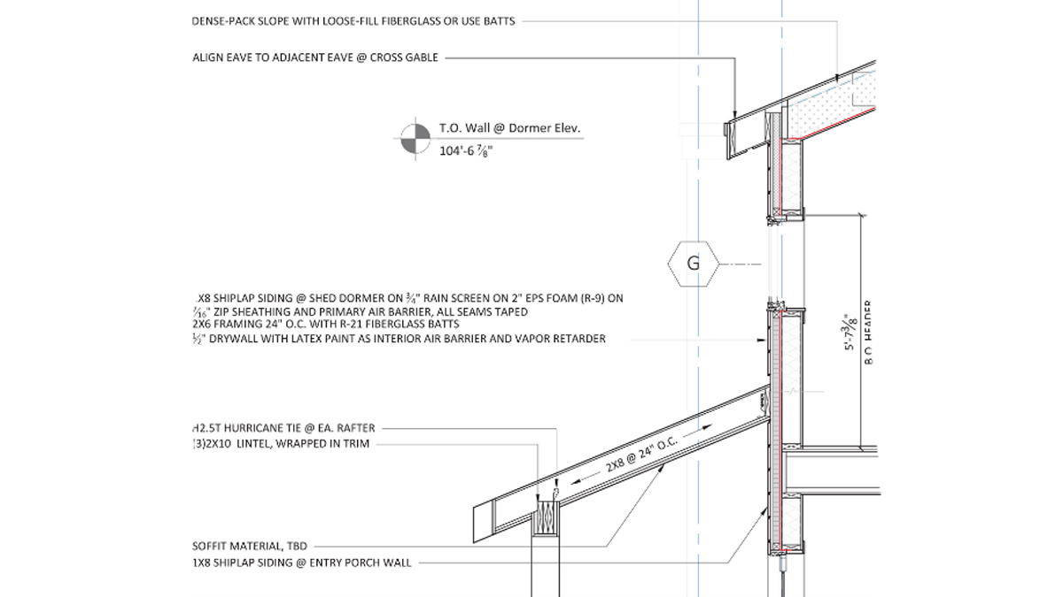 Framing detail for the ProHOME.