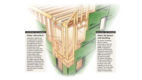 Framing details for the FHB House. (FHB image)